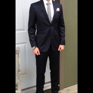 Men's J Ferrar suit 30 x 30 slim navy stripe